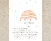 Umbrella Baby Shower Invitation Template