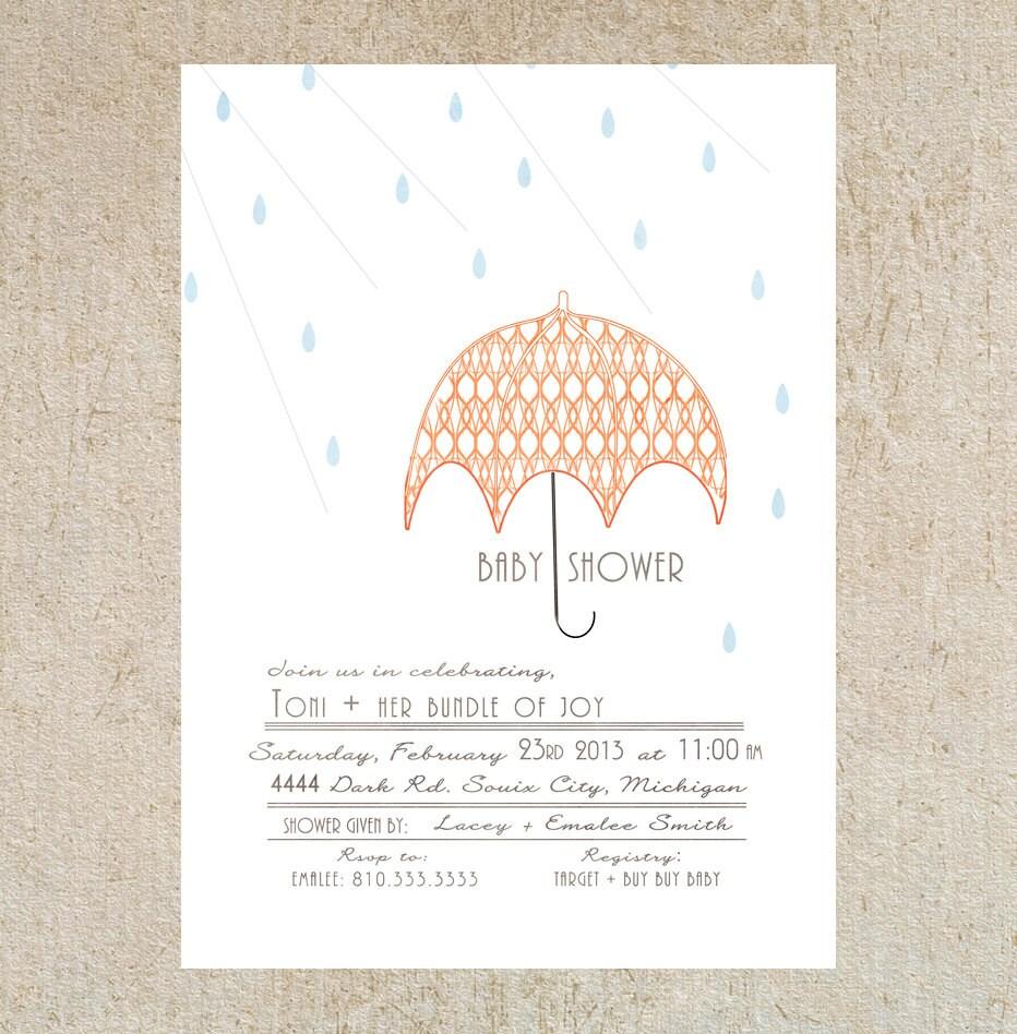Umbrella Baby Shower Invitation Template By Masonkateshop