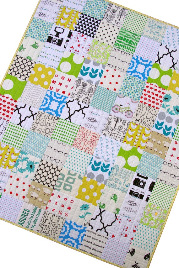 Modern Patchwork Quilt for Baby and Toddler