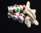 Cloth Wipes- Bamboo Velour / Cotton Knit- 6 pack- Variety
