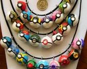 POKEMON Master Poke Ball Pendant or Charm  - MADE to ORDER - Your Choice - Handmade