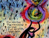 She Wanted the Rainbow - Archival Paper Print