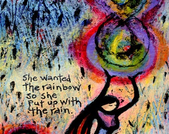 Colorful Archival Paper Print - She Wanted the Rainbow