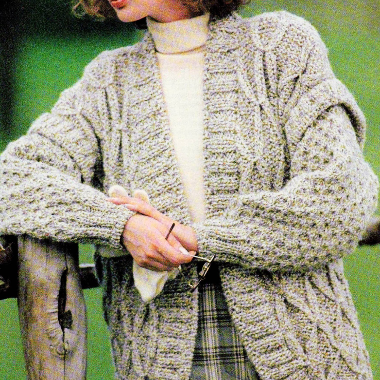 Georgia Afghan Knitting Pattern : INSTANT DOWNLOAD PDF Vintage Knitting Pattern Chunky Tweed ...
