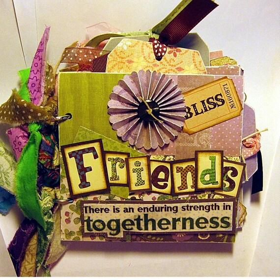 Friends Mini Scrapbook Album-Family and Best Friends Book