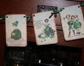 St. Patricks Day Banner / Garland with rhinestones