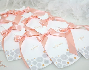 Will you be my Bridesmaid, Maid of Honor, Flower girl - Dress cards (Abstract Design)
