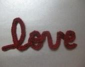 Love in cursive Crochet Pattern