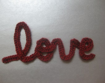 Love in cursive Crochet Pattern