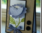 Floral One of A Kind Hand Crafted Greeting Card