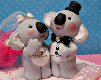Koala Bear Wedding Cake Topper and Keepsake Animals