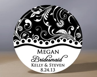 Bridesmaid Gift | Personalized Pocket Mirror | Bridal Shower Favor | Wedding Party Gift | Maid of Honor Gift | Mother of the Groom Gift