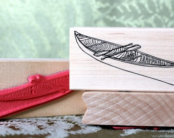Canoe rubber stamp from oldislandstamps