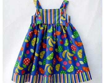 Knot Dress, Sun Dress, Girls Summer Dress, Size 6