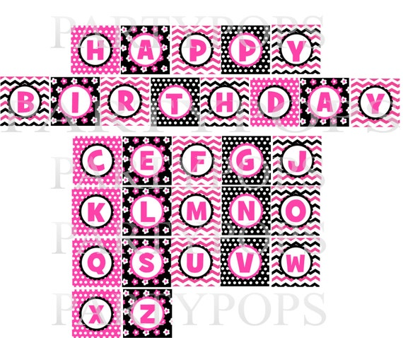 Items Similar To Digital Minnie Mouse Party Happy Birthday