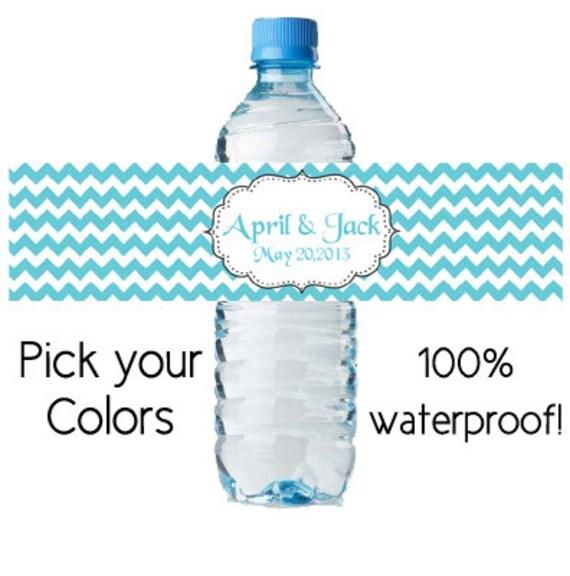 custom water bottle sticker personalized by digitaldoodlebug