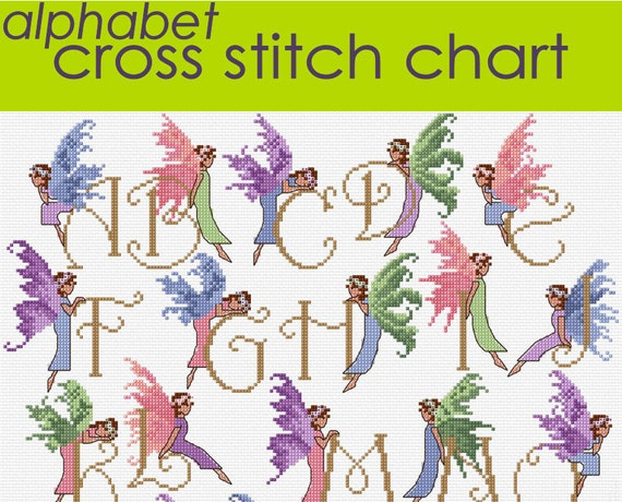 Fairy Alphabet Sampler Cross Stitch Chart Pdf Chart