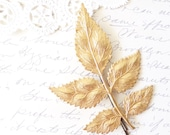 Golden Leaf Branch Hair Pin - Woodland Collection - Whimsical - Nature - Bridal - Wedding Hair Accessory