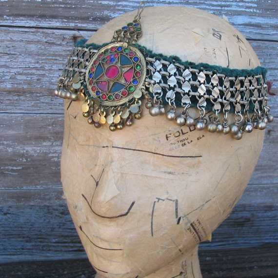 Vintage Metal Kuchi Tribal Headdress or Anklet