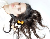 HARVEST Ombre Hair Bow - CHOOSE ONE Bobby Pin, Hand Made Hair clip