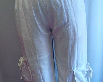 Womens Pants Plus Size Coco and Juan Plus Size White Linen Crop Pant  Size XL fits size 14,16
