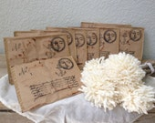 By The LIght of The Moon Love Letter - Victorian - Paper Pockets - Distressed Victorian Style Letters