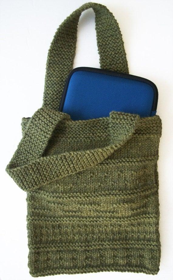 Knit Backpack Pattern : Knit Purl Sampler Bag PDF Pattern
