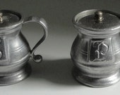 Wilton Armetale Salt and Pepper Shakers.