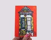 House of the Rising Shotgun (Katnawlins Greeting Card)