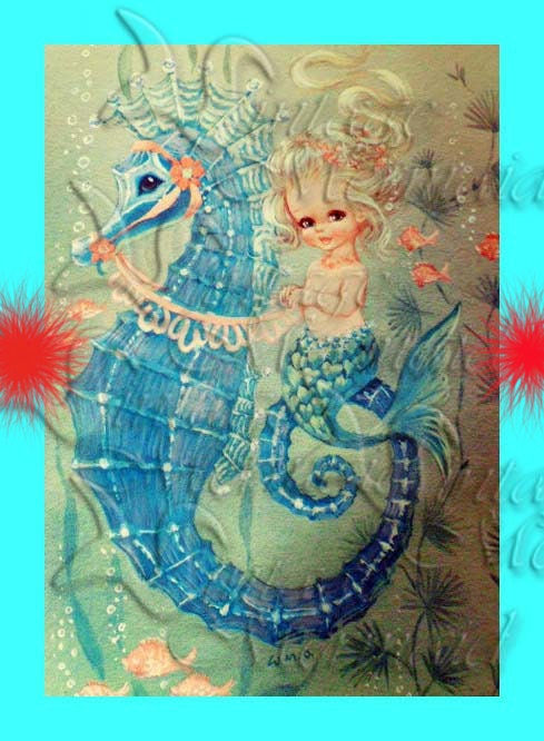 Vintage Mermaid Fabric 1950 S Retro Baby Mermaid Quilt