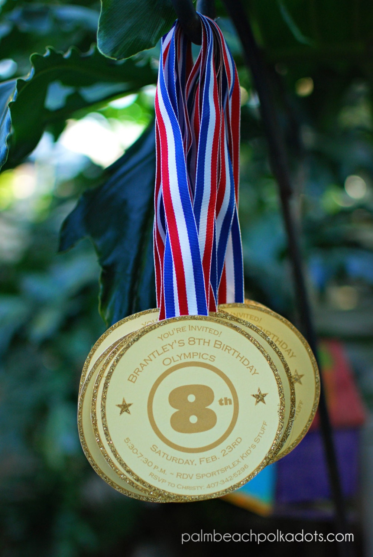 Gymnastics Tumbling Gold Medal Olympics inspired Birthday
