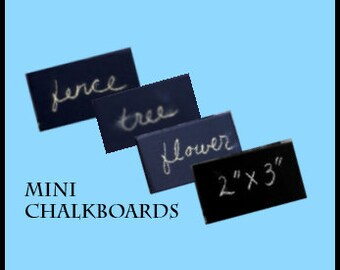 Custom size set of 50 Chalkboards placecard minis perfect table cards weddings, retail, craft fair signage