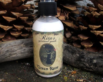Rita's Ocean Rose Spiritual Mist Spray - Cleanse, Peace, Luv, Bless - Pagan, Hoodoo, Witchcraft, Magic