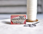 RESERVED vintage french rubber stamp - marie