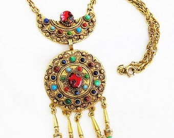 Florenza Millefiori Glass Cabochon Necklace