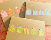 Happy Birthday Card - Birthday Present Card - Happy Birthday Greeting Card - Set of 3 Kraft Cardstock Cards - KBP