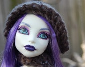 Smoky Silver Hat and Scarf for Monster High Dolls