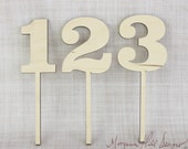 DIY Wood Table Numbers Rustic Wedding Decor Unfinished Wood Barn Wedding Rustic Chic (Item Number 130003)