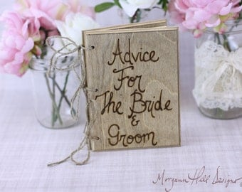 Rustic Guest Book Barn Country Wedding Decor Advice For The Bride and Groom (Item Number 130024)