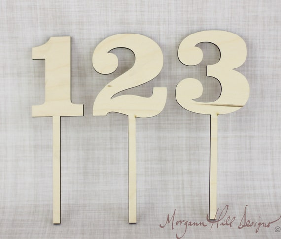 unfinished wood table numbers 2