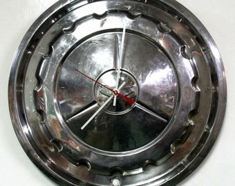 1957 Chevy Bel Air Hubcap Clock - Chevrolet Belair Wall Clock