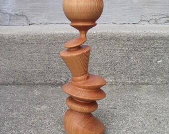 Build diy turned wood pillar candle holders plans wooden for Oxford turned wood candle holders