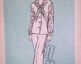 "vintage Pants Blouse Jerkin Vest Scarf Mail order Printed Pattern 4994  Misses size 16 1/2  bust 39"" Sewing Pattern uncut, FF"