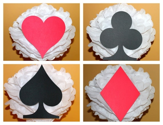 Deck Of Cards Set Of Four Baby Shower Birthday Party Decoration