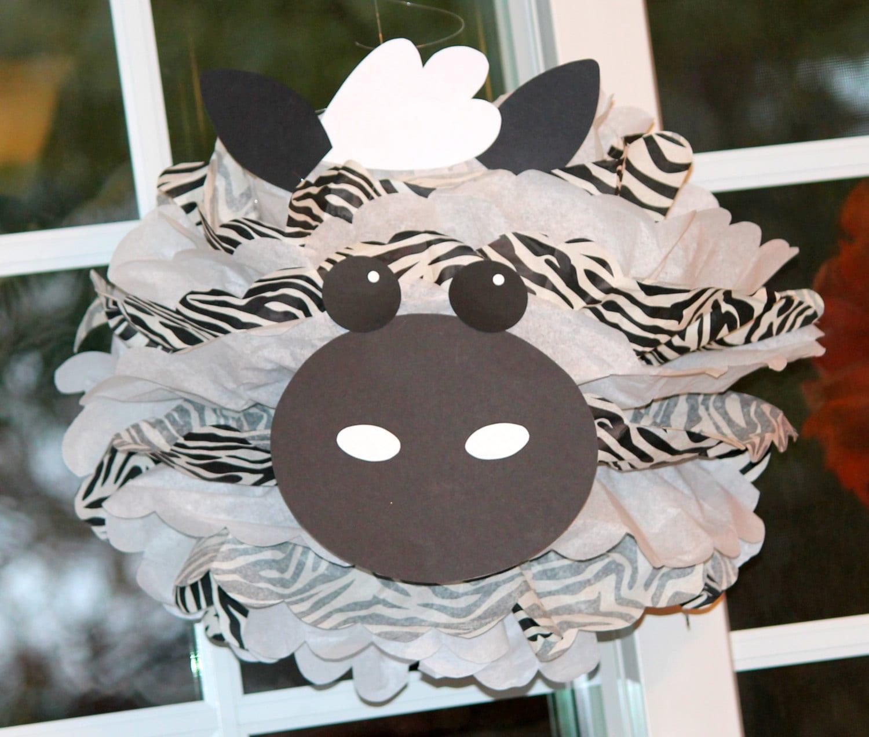 zebra pom pom kit king of the jungle safari noahs ark carnival