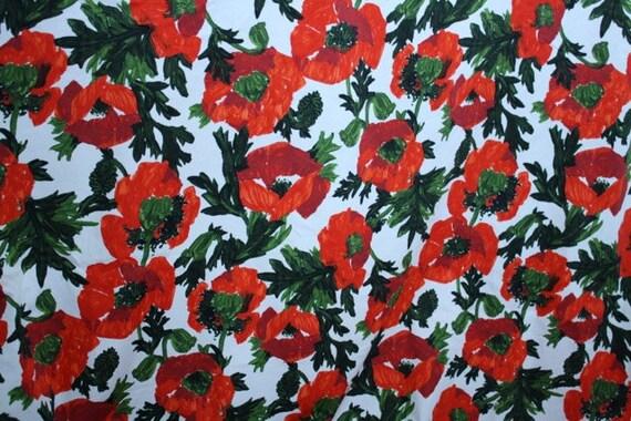 poppy print fabric - photo #11