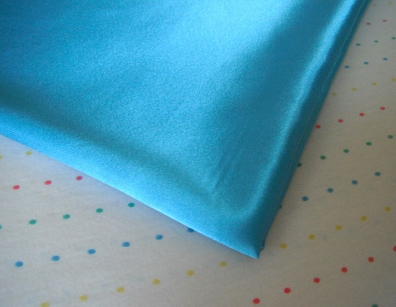 """Turquoise Satin Lining Fabric, 60"""" Wide, BTY"""