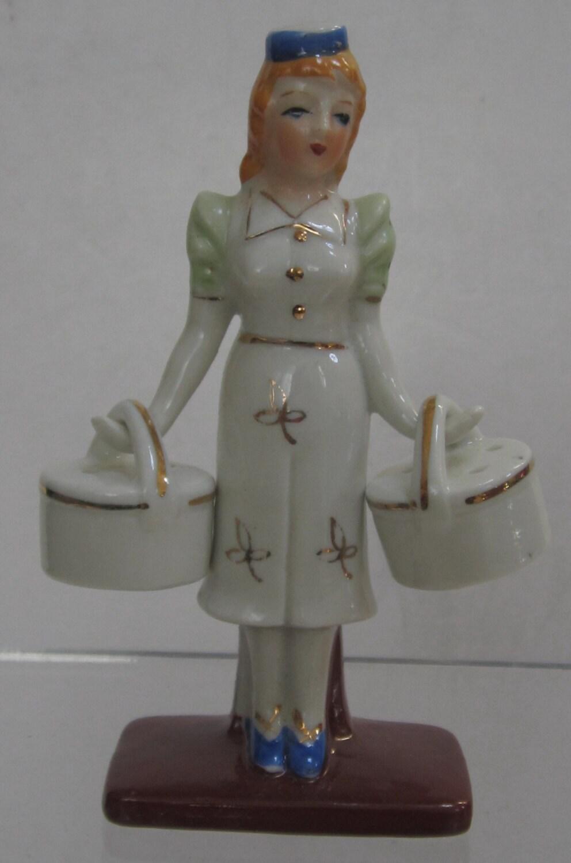 Sale 50 Novelty Porcelain Maid Salt Pepper Shaker By