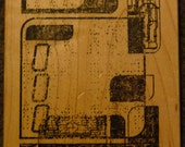 Matrix Circuit Collage - Great New High-Tech WM  Rubber Stamp - Scrapbooks - Cards - Collage - FREE Shipping