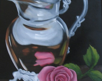 Silver Pitcher 16 X 20 oil on stretched canvas